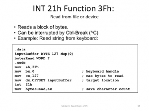 pic keyboard interrupt