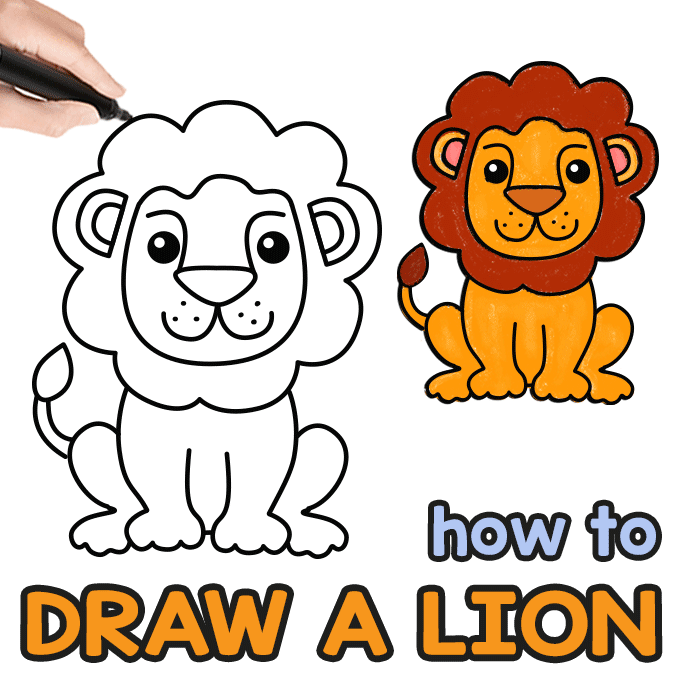 pic of lion drawing