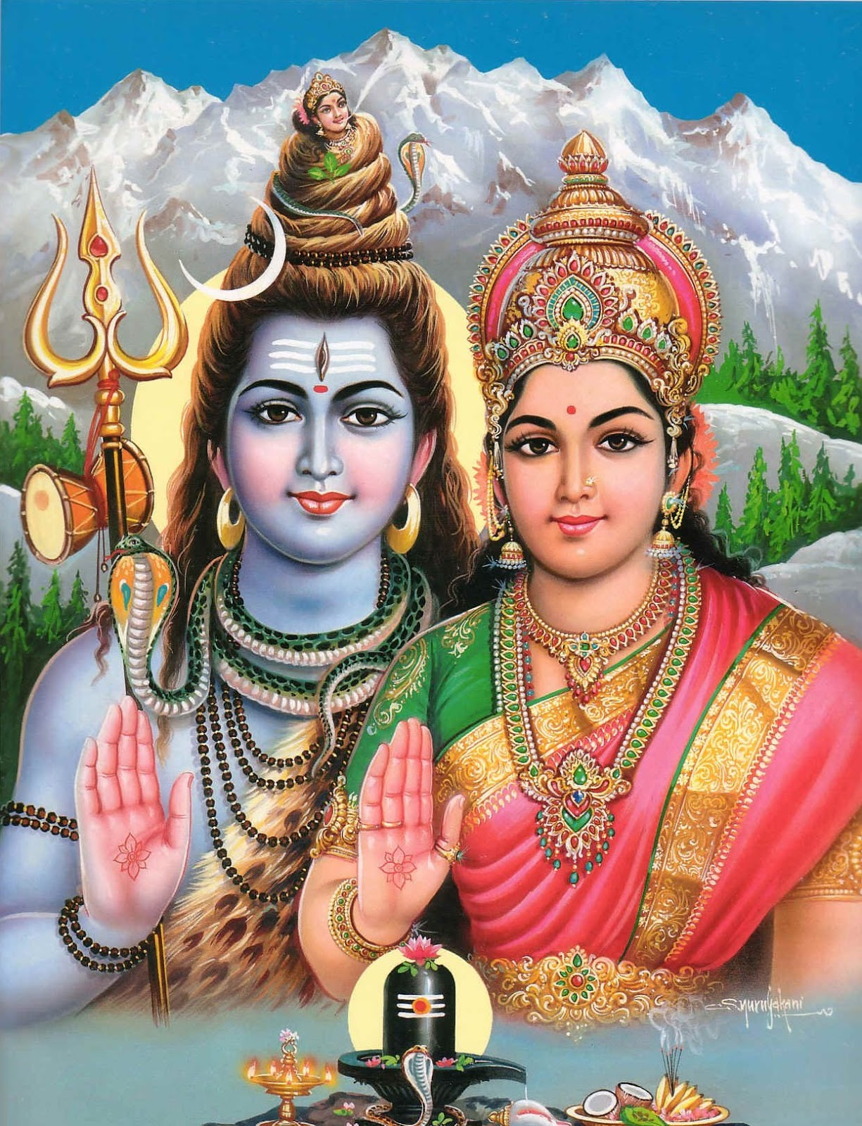 hd pics of lord shiva and parvati