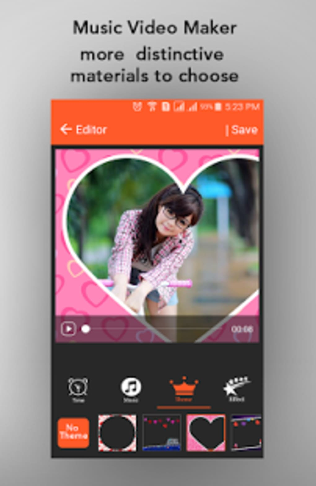 photo video maker with music app download uptodown